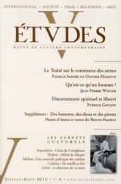 Revue Etudes ; Juillet-Août 2012 - Couverture - Format classique