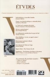 Revue Etudes ; Juillet-Août 2012 - 4ème de couverture - Format classique