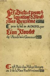 Les Dicts Et Predications D'Alcofribas Deuxieme Pour Le Bel An M.Cm.Xxii - Couverture - Format classique