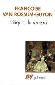 Critique du roman ; essai sur la modification de Michel Butor - Couverture - Format classique
