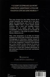 France Gall - 4ème de couverture - Format classique