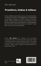 Frontières, limbes et milieux - 4ème de couverture - Format classique