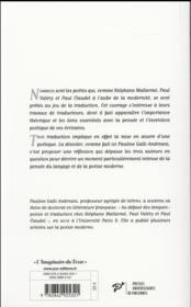 Mallarmé, Valéry et Claudel traducteurs - 4ème de couverture - Format classique