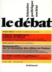 Revue Le Débat N.64 ; mars-avril 1991 - Couverture - Format classique