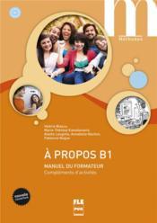 À propos Bi ; manuel du formateur - Couverture - Format classique