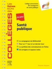 Fiches santé publique - Couverture - Format classique