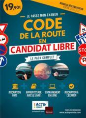 Je passe mon examen ; code de la route en candidat libre ; le pack complet (édition 2020/2021) - Couverture - Format classique