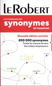 Dictionnaire le Robert des synonymes et nuances - Couverture - Format classique