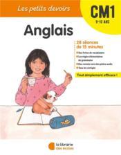 Les petits devoirs ; anglais ; CM1 - Couverture - Format classique