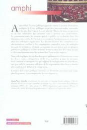 L'action publique. sociologie et politique - 1ere ed. (1re édition) - 4ème de couverture - Format classique