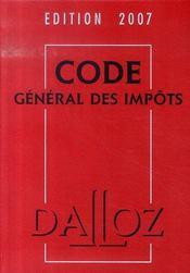 Code General Des Impots (edition 2007) - Intérieur - Format classique