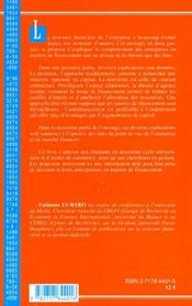 Structure Financiere De L'Entreprise - 4ème de couverture - Format classique