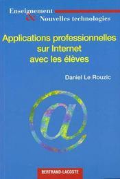 Applications Prof. Sur Internet - Intérieur - Format classique