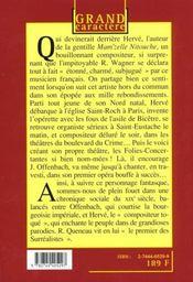 Herve pere de l'operette - 4ème de couverture - Format classique