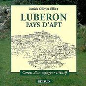 Lubéron ; pays d'apt - Couverture - Format classique