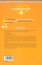 Fiches de mycologie ; auto-évaluation, manipulations - 4ème de couverture - Format classique
