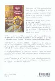 Jesus dans la maison des pharaons - 4ème de couverture - Format classique