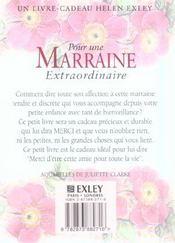Pour Une Marraine Extraordinaire Nlle Edition - 4ème de couverture - Format classique