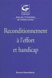 Recondionnement A L'Effort Et Handicap - Intérieur - Format classique