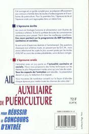 Aide-soignant auxiliaire de puericulture - 4ème de couverture - Format classique