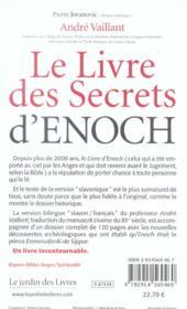Le livre des secrets d'enoch - 4ème de couverture - Format classique