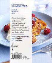 À table en moins de 20 minutes - 4ème de couverture - Format classique