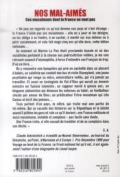 Nos mal-aimés : ces musulmans dont la France ne veut pas - 4ème de couverture - Format classique