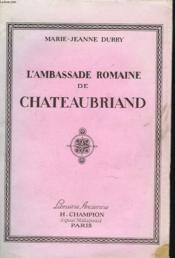 Lambassade Romaine De Chateaubriand - Couverture - Format classique