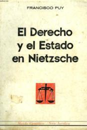 El Derecho Y El Estado En Nietsche - Couverture - Format classique
