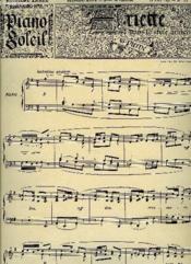 Piano Soleil 12 Mars 1893, N°11 - Couverture - Format classique