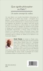 Que signifie philosopher en Haïti ? un autre concept du vodou - Couverture - Format classique