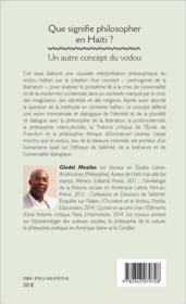 Que signifie philosopher en Haïti ? un autre concept du vodou - 4ème de couverture - Format classique