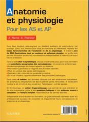Anatomie et physiologie ; aide-soignant et auxiliaire de puériculture - 4ème de couverture - Format classique
