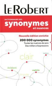 Dictionnaire le Robert des synonymes et nuances ; poche+ - Couverture - Format classique