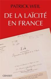 De la laïcité en France - Couverture - Format classique