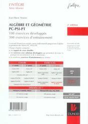 PC-PSI-PT ; exercices (2e édition) - 4ème de couverture - Format classique