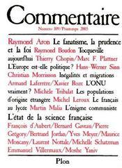 Revue Commentaire N.109 - Intérieur - Format classique