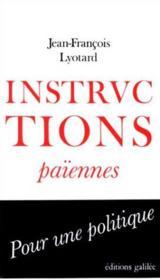 Instructions païennes - Couverture - Format classique