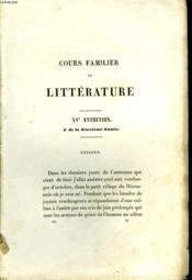 Cours familier de Littérature. N°15 - Couverture - Format classique