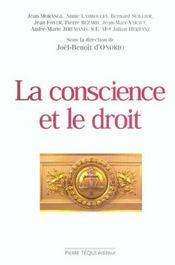La Conscience Et Le Droit. Actes Du 18eme Colloque National - Intérieur - Format classique