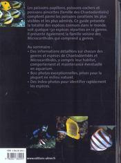 Poissons-papillons ; chaetodontidés - 4ème de couverture - Format classique