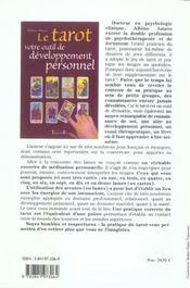 Le tarot ; votre outil de développement personnel - 4ème de couverture - Format classique