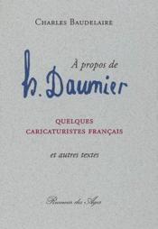À propos de Daumier ; quelques caricaturistes français - Couverture - Format classique
