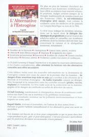 L'Alternative A L'Estrogene ; Le Guide De L'Equilibre Hormonal Naturel - 4ème de couverture - Format classique