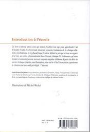Introduction a l'ecoute qu'est-ce que la clinique ? - 4ème de couverture - Format classique