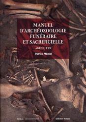 Manuel d'archéozoologie funéraire - Intérieur - Format classique