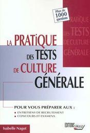 Pratique tests de culture generale. - Intérieur - Format classique