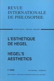 Revue Internationale De Philosophie N.221 ; L'Esthétique De Hegel - Intérieur - Format classique