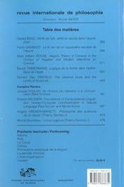 Revue Internationale De Philosophie N.221 ; L'Esthétique De Hegel - 4ème de couverture - Format classique