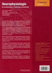 Neurophysiologie ; de la physiologie à l'exploration fonctionnelle (2e édition) - 4ème de couverture - Format classique